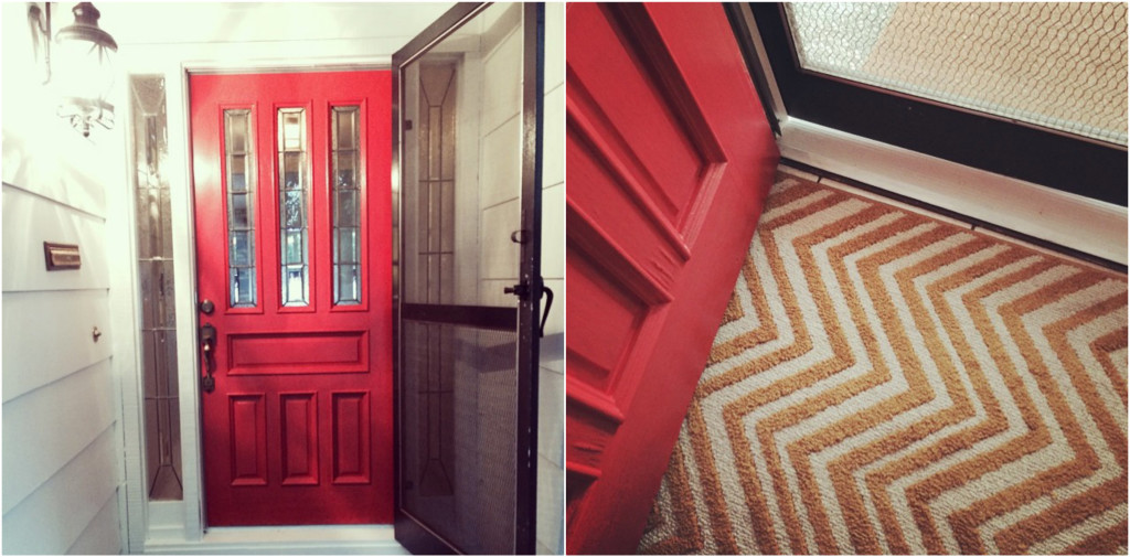 red-door-mat